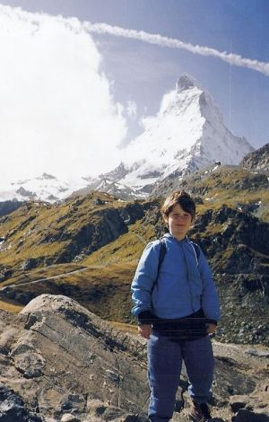 Photos courtesy Reg Green This is the last photo of Nicholas, age 7, taken on a hike on the lower slopes of the Matterhorn in Switzerland a few days before he was killed.