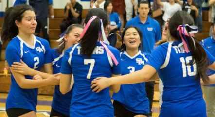 Photo courtesy Eric Danielson The San Marino High School varsity girls' volleyball team won their first Rio Hondo League championship since 1990.