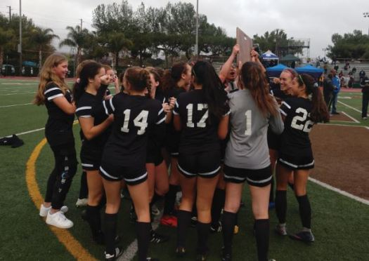 Photo by Oscar Areliz / OUTLOOK The Flintridge Sacred Heart varsity girls' soccer team defeated visiting Culver City, 3-0, to claim its first CIF State Southern California Regional title since 2010.