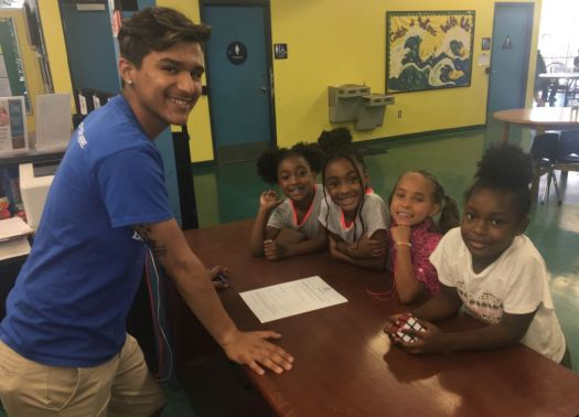 Thomas Macedo, 18, a Pasadena High School graduate, is a former Boys & Girls Club member who returned to work there this summer.