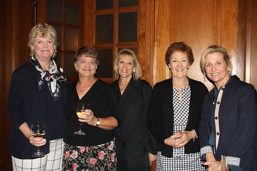 Nancy Reardon, Sara Law, Nicki Montoya, Mary Marthe and Connie Harding