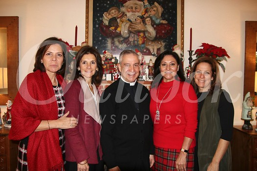 Julieta Bennett, Rossana Cacho-Sousa, Father Marcos Gonzalez, Laura Aguirre and Julianne Coppersmith
