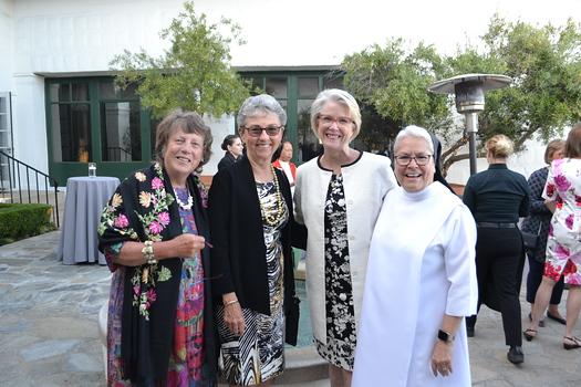 Betsy Bazdarich, Joan Harper, Ann Holmquist and Sister Celeste Botello