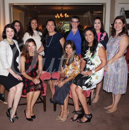 The Friends of Foothill Family 2018-19 board includes (front row, from left) Vanessa Wolf Alexander, Vice President Chelby Crawford, past President Vivian Godoy Rodriguez and Julietta Perez. Back: Goli Compoginis, Tina De La Torre, President Melissa Wu, Rochelle Siegrist, Michelle Guerra and Christine Muller.