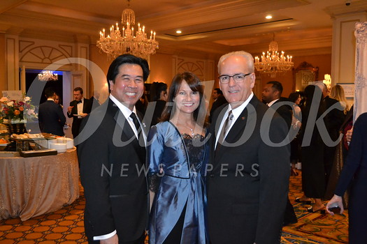 Event co-chairs John Gong and Joan McCarthy with Hillsides President and CEO Joseph Costa