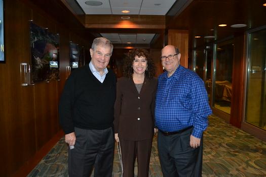 Legacy Foundation Vice President Ron Okum, Laura Farber and Legacy Foundation President Mickey Segal