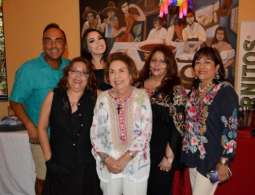 Tom Recendez, Tina Jimenez, Mary Alice and Alice Recendez, Marie Guzman and R-lene de Lang