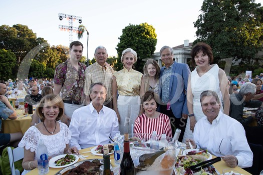 Judy Angel (front row, from left), Robert Wagner, Carolyn Miller and Bob Salvaria. Back: Flint Angelovic, Patrick Whaley, Carolyn Wagner, Elizabeth East, Patrick Frank and Lynda Jenner.