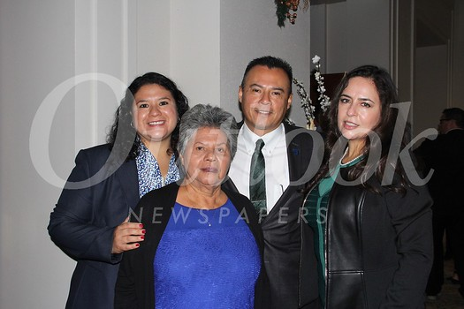 Incoming PFAR President Eddie Ramirez with Hilma Thomas, Sara Ramirez and Rose Ramirez