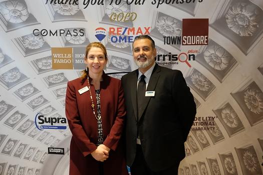 Pasadena Foothill Association of Realtors CEO Carla Dane and PFAR Operations Manager Jose Ontiveros