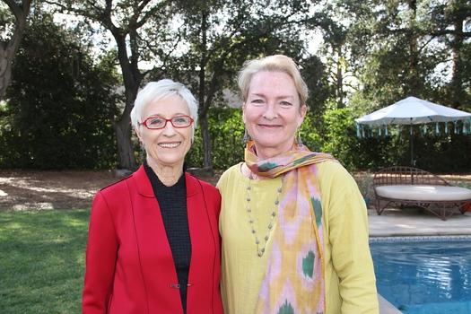 Pasadena Art Alliance President Bea Trujillo with Grants Committee Chair Julie Ward