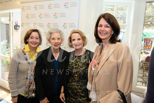 Linda Taylor, Pasadena Community Foundation board chair Fran Scoble, President and CEO Jennifer DeVoll and Kathleen Gilmore