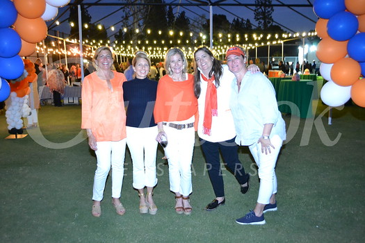 """""""Friday Night Lights"""" committee Leslie Clayton, Denise Mathews, Kim D'Amico, Eileen Williamson and Lyn Salembier"""