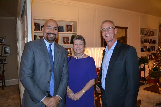 Ronald McDonald House CEO Vince Bryson, Charlotte Harrison and Geoff Johansing