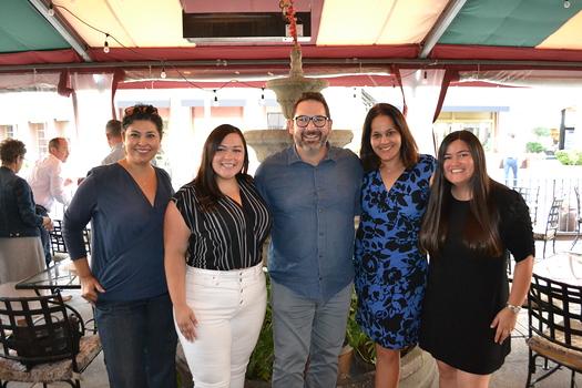 Marie Balderas, Hope la Rosa, Armen Sarkissian, Hazel Perera and Hilda Hernandez