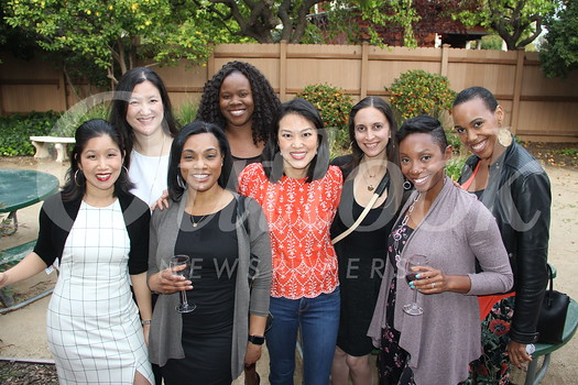Lin Chin (front row, from left), Cherie Hines, Ivy Lee and Quiana Adams. Back: Jessica Osaki, Victoria Williams, Amanda Belliard and Danielle Fennoy.