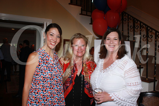 Principal Courtney Kassakhian, event hostess Leigh Olivar and J.R. Ossman