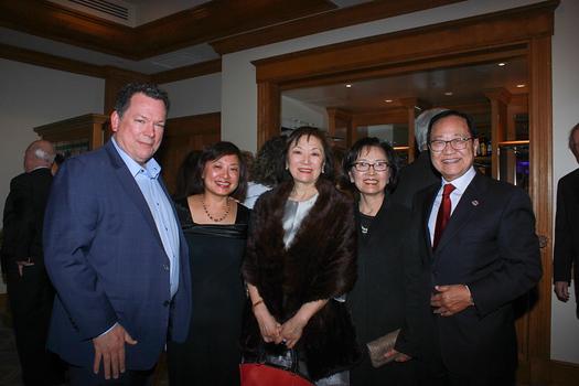 Kyle and Ching Duncan, Serena Ho, and Nancy and Alan Yung