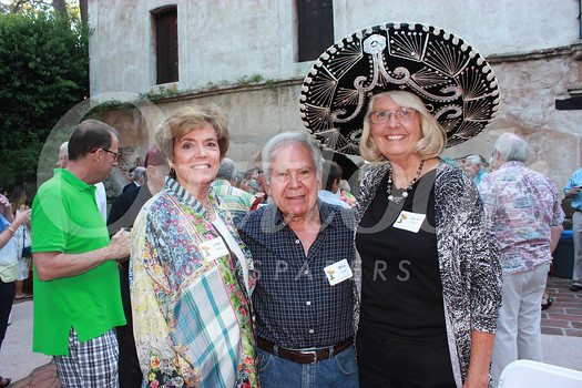 Linda Massey with Mike and Karen Habib