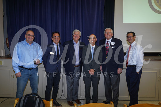 Kelly Ryan, Bong Bringas, Dick Pearson, featured speaker Oscar Wei, Jim Angelos and David Wang