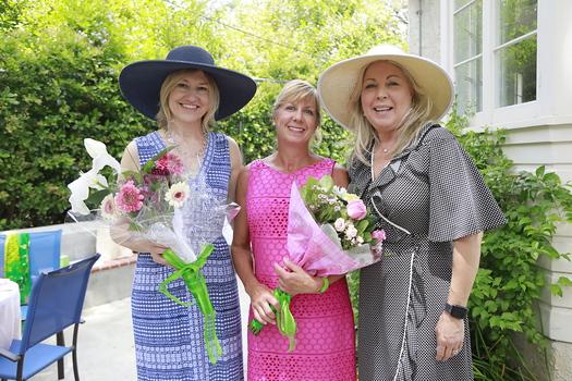Outgoing President Debra Spaulding, incoming President Maria De Jesu and Gretchen Shepherd Romey