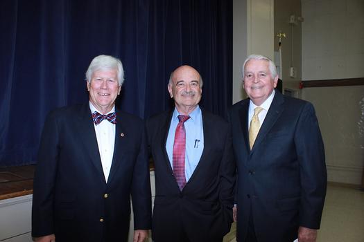 President Richard Pearson, guest speaker Dr   Alfredo Sadun and Jim Angelos