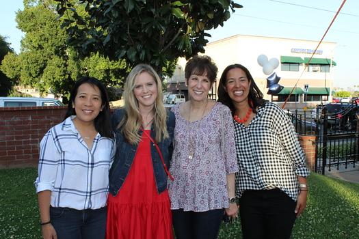 Board chair Jenny Kaw, Jill Lynn, Head of School Liz Westphal and Melissa Boozell