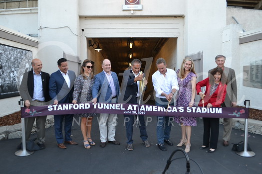 Stanford Tunnel ribbon-cutting