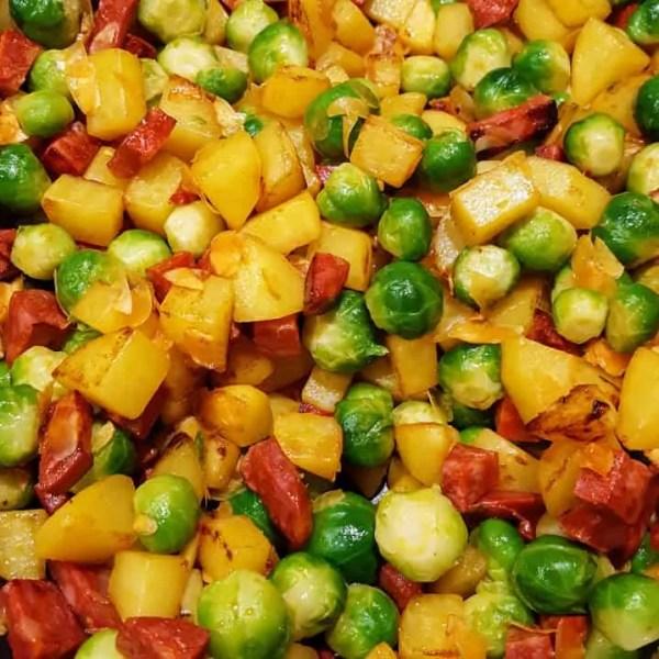 Testrecept: spruitjes met dille en chorizo uit Foodies Magazine februari '17