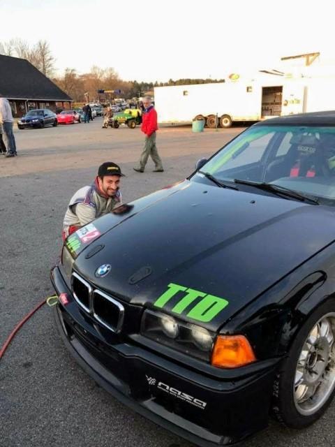Jake checking tire pressures