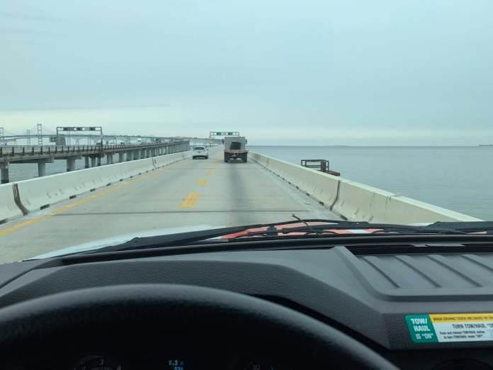 U-Haul crossing Bay Bridge