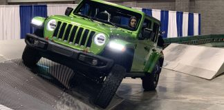 Green Jeep Wrangler Rubicon