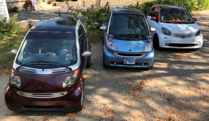 Smart Cars lined up