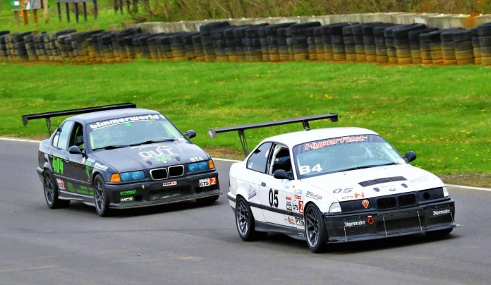 Jake and Bill racing at Summit Point