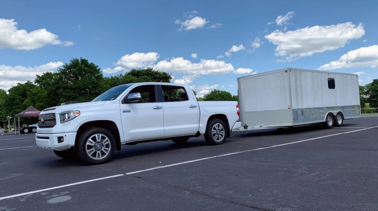 2019 Toyota Tundra with enclosed trailer