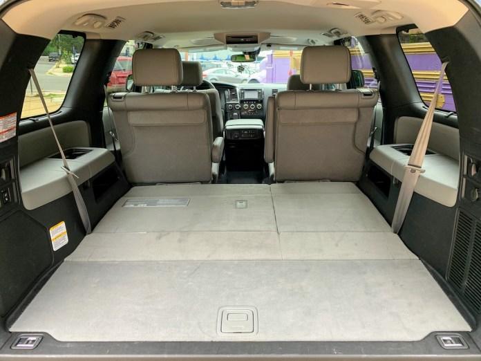 2019 Toyota Sequoia gray interior third row stowed
