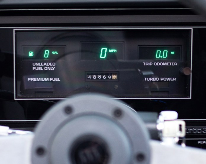 1987 Buick Grand National digital dash