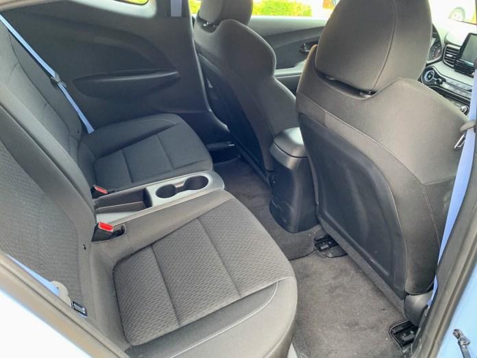 2019 Hyundai Veloster N back seats