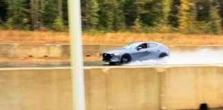 2020 Mazda3 AWD racetrack
