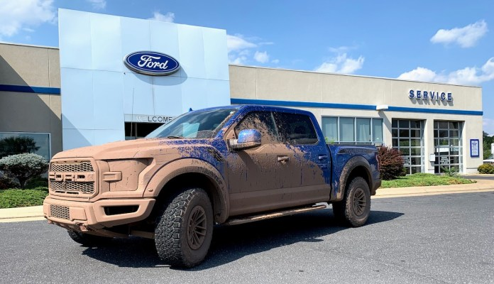F150 Raptor mud at dealership