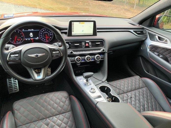 Genesis G70 3.3 interior automatic