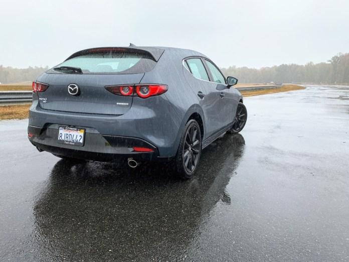 2020 Mazda3 AWD hatchback rear