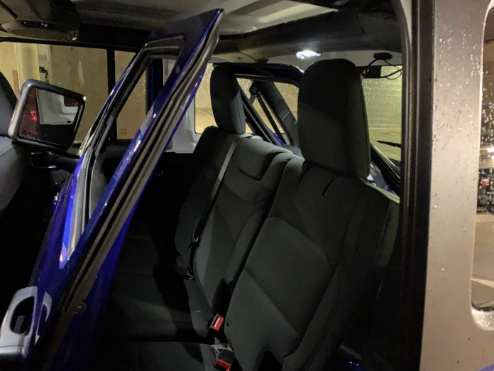 2019 Jeep Wrangler doors inside