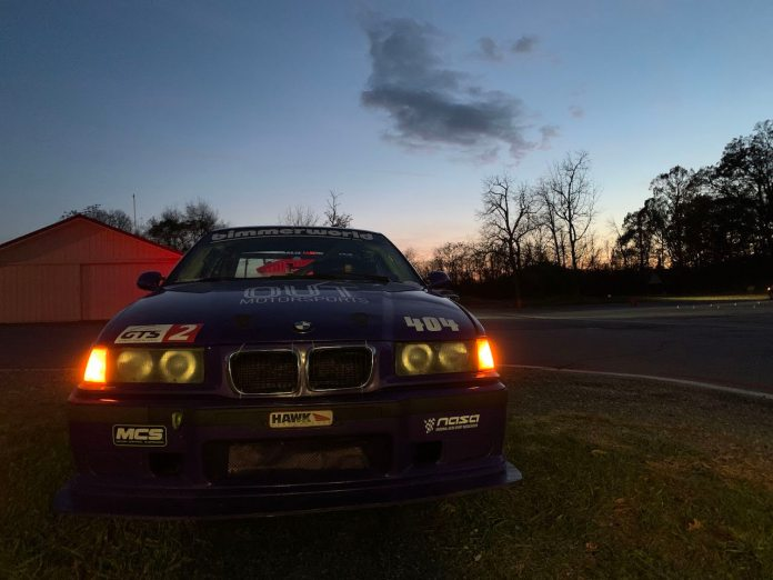 E36 M3 sunset at Summit Point