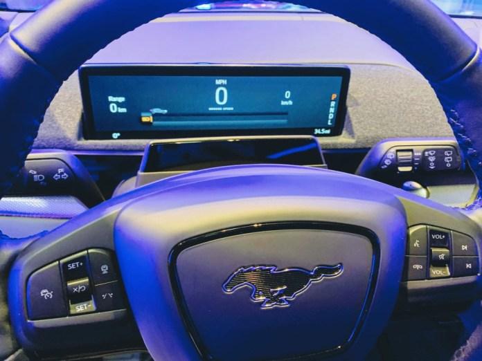 Mustang Mach-E gauge screen