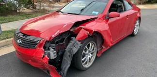 totaled Infiniti G35