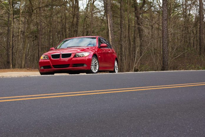 red BMW E90 328i