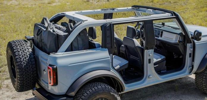 2021 Ford Bronco frameless doors