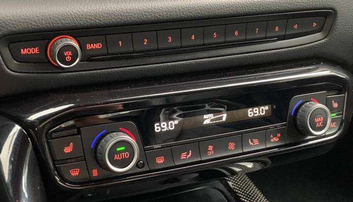 2020 Toyota Supra climate control