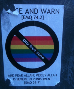 Man fined for anti-gay sticker campaign
